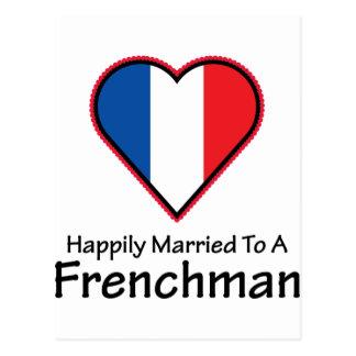 Cartão Postal Francês feliz casado