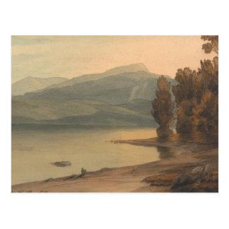Cartão Postal Francis Towne - Windermere no por do sol
