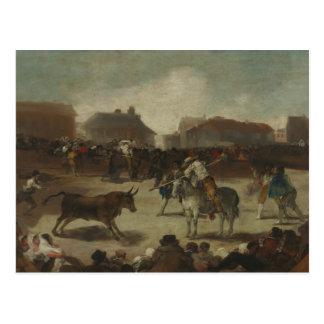 Cartão Postal Francisco Goya - Bullfight em uma vila