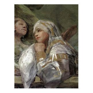 Cartão Postal Francisco Goya, kociola w San Antonio de Freski z,