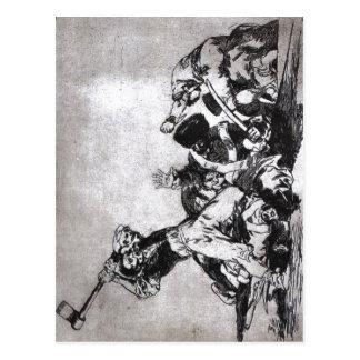 Cartão Postal Francisco Goya, mesmo do la do de dos desastres do