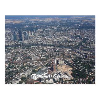 Cartão Postal Francoforte Alemanha do céu