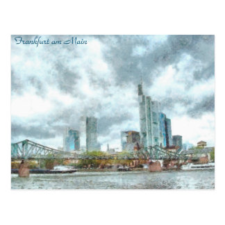 Cartão Postal Francoforte - am - cano principal