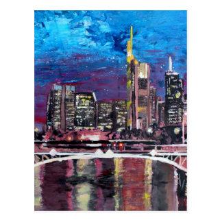 Cartão Postal Francoforte skyline principal de Alemanha - de