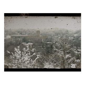 Cartão Postal Frankfort do centro, Kentucky no inverno