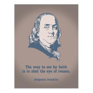 Cartão Postal Franklin - olho da fé