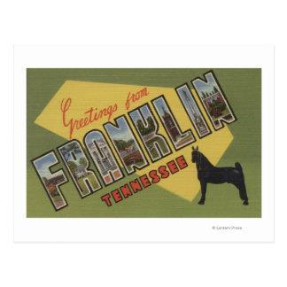 Cartão Postal Franklin, Tennessee - grandes cenas da letra