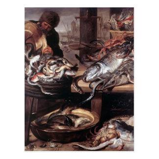 Cartão Postal Frans Snyders- o Fishmonger