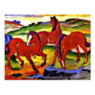 Cartão Postal Franz Marc - pastando cavalos IV. 1911