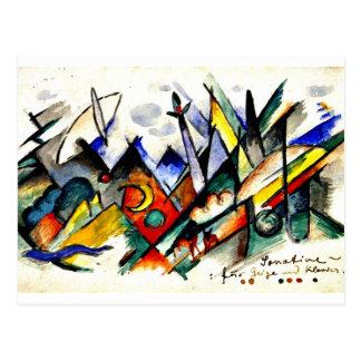 Cartão Postal Franz Marc - Sonatine para o violino e o piano