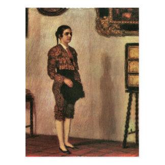 Cartão Postal Franz von Colagem - Mary como um bullfighter