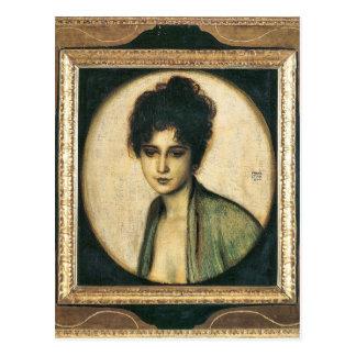 Cartão Postal Franz von Colagem - retrato da Sra. Feez