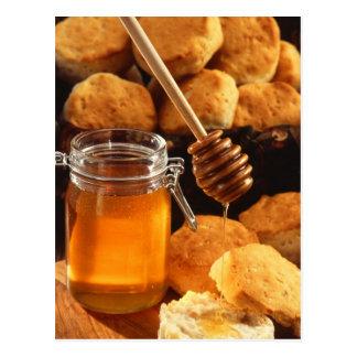 Cartão Postal Frasco delicioso do mel