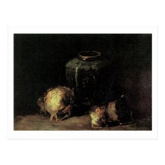 Cartão Postal Frasco do gengibre e cebolas, Vincent van Gogh