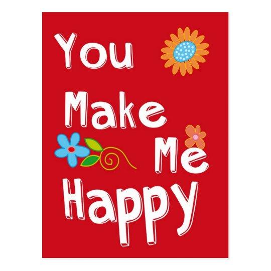 Cartão Postal Frase Inspirador Da Tipografia Vermelho