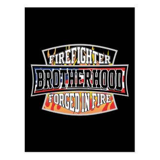 Cartão Postal Fraternidade do sapador-bombeiro