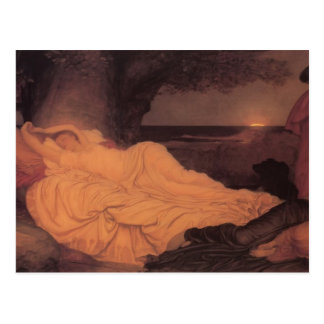 Cartão Postal Frederic Leighton- Cymon e Iphigenia