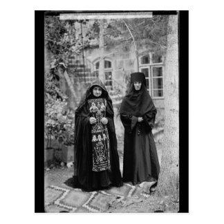 Cartão Postal Freira ortodoxo do esquema
