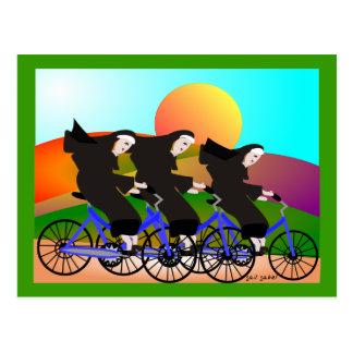 Nuns on Bicycles Art Gifts