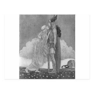 Cartão Postal Freja e Svipdag por John Bauer