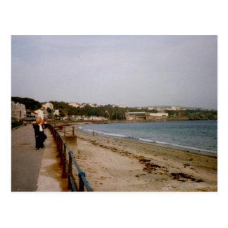 Cartão Postal Frente marítima, Douglas, ilha do homem