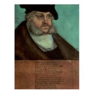 Cartão Postal Friedrich III, o sábio, eleitor de Saxony