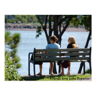 Cartão Postal friends1, amor o Lago Superior dos amigos