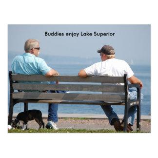 Cartão Postal Friends2, amigos apreciam o Lago Superior