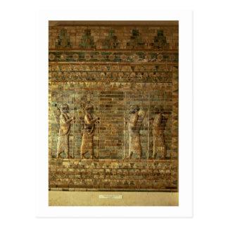 Cartão Postal Friso dos arqueiros da guarda do rei persa, para