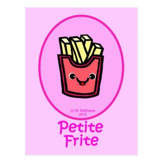 Cartão Postal - Fritada pequena cor-de-rosa - batatas fritas