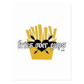 Cartão Postal Fritadas sobre o slogan das caras