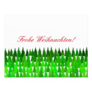 Cartão Postal Frohe Weihnachten! Feliz Natal alemão