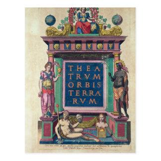 Cartão Postal Frontispício, ó edição 'Theatrun Orbis