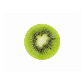 Cartão Postal Fruta de quivi fresca. Close up redondo da fatia