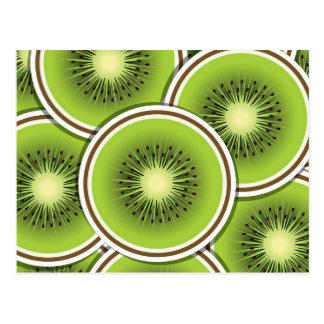 Cartão Postal Fruta de quivi Funky