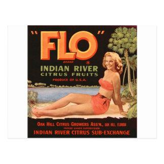 """Cartão Postal Fruta indiana do rio de """"Flo"""""""