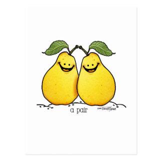 Cartão Postal Frutas gêmeas - pares perfeitos