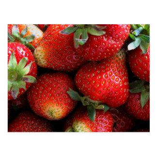 Cartão Postal Frutas vermelhas frescas da morango