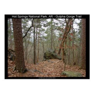 Cartão Postal Fuga do desfiladeiro de Gulpha do parque nacional