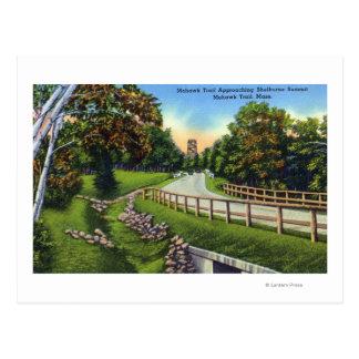 Cartão Postal Fuga do Mohawk que aproxima a cimeira de Shelburne