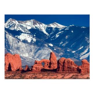 Cartão Postal Fuga equilibrada da rocha