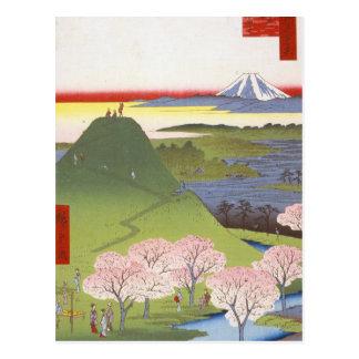 """Cartão Postal """"Fuji novo"""" Hiroshige"""