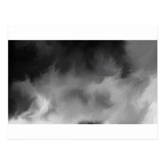 Cartão Postal Fumo enevoado cinzento