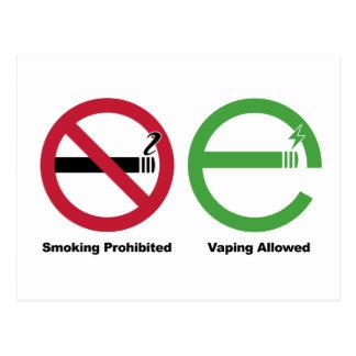 Cartão Postal Fumo proibido. Vaping reservou