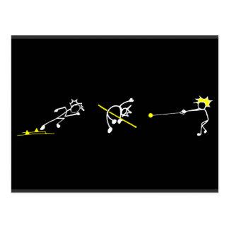 Cartão Postal Funcione o atletismo do campo de Stickman Track&