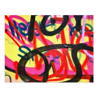 Cartão Postal fundo abstrato dos grafites