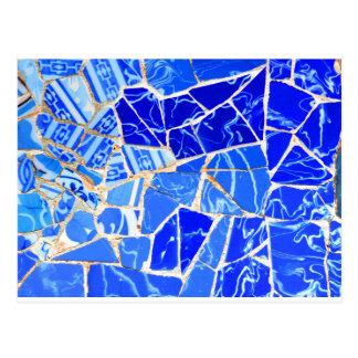 Cartão Postal Fundo azul abstrato