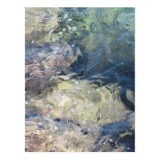 Cartão Postal Fundo da natureza do fluxo transparente da água do