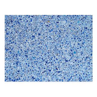 Cartão Postal Fundo de pedra salpicado azul da textura do