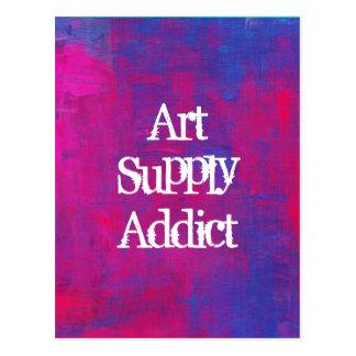 Cartão Postal Fundo do abstrato do viciado da fonte da arte